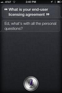 Siri Easter Egg EULA